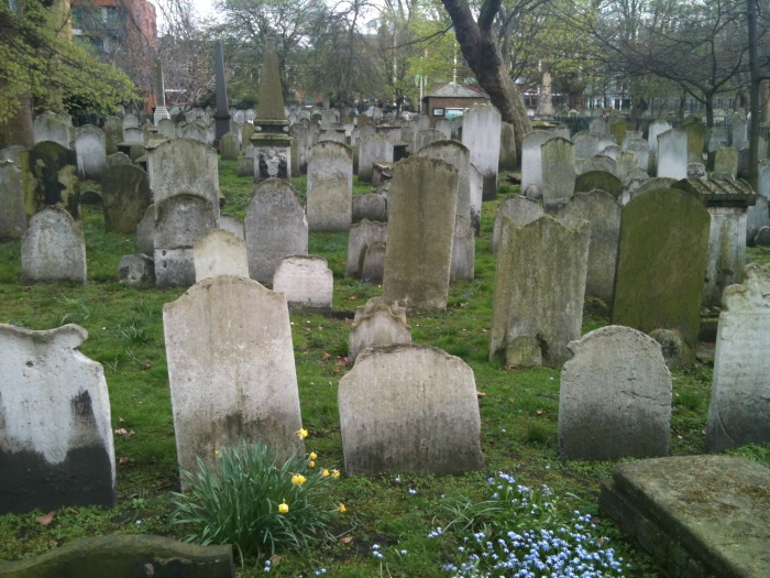 Gravestones, Bunhill Fields