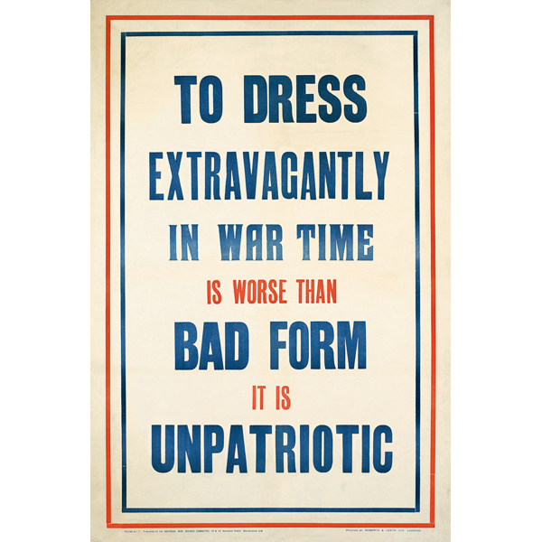 To Dress Extravagantly Is Bad Form